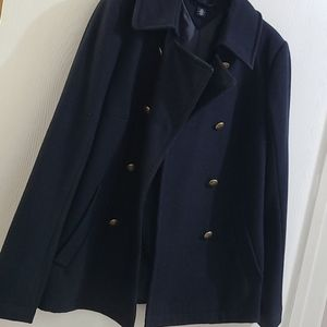 Short warm navy coat